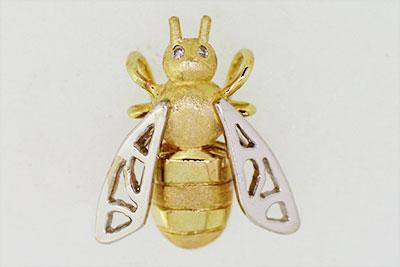 Anhänger in Bienenform aus 585/- Gold
