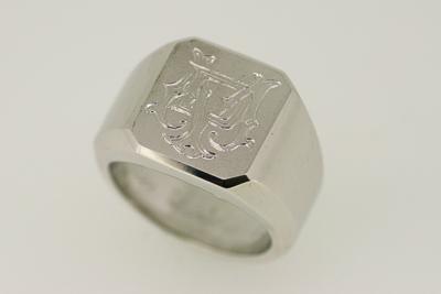 Siegelring aus Sterling-Silber